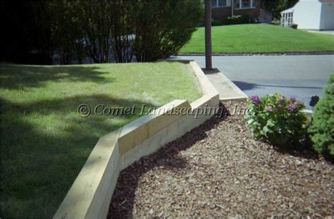 Railroad Tie Landscaping Ideas 1000 Ideas About Railroad Tie Retaining Wall On Pinterest Retaining Walls Wood Retaining
