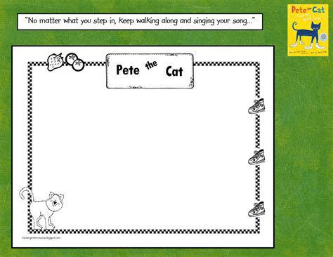 Pete The Cat Worksheets by Kindergarten Crayons Pete The Cat Keep Walking Along