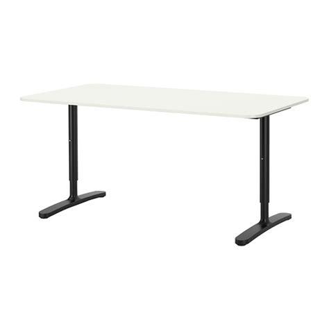 Meja Kantor Ikea bekant meja putih hitam ikea