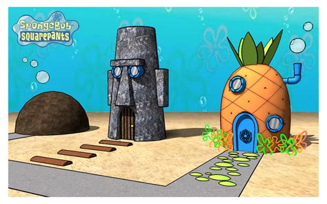 casa spongebob homes in 3d spongebob squarepants photo 29026008 fanpop