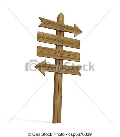 Wooden Clip Seri 1 stock illustratie oud houten wegwijzer oud houten