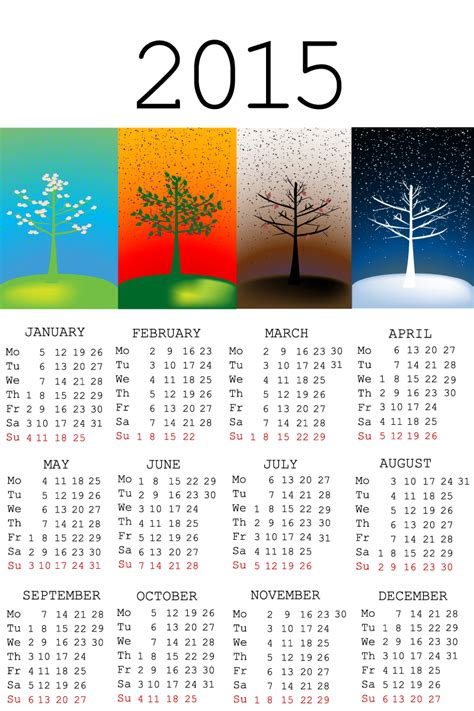 calendar design 2015 vector free download four seasons calendar 2015 vector free vector graphic