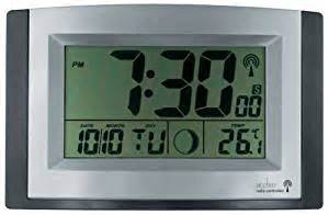 Radio Controlled Acctim Radio Controlled Lcd Wall Clock Co Uk