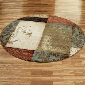 Outdoor Polypropylene Rugs Impression Leaf Round Area Rugs