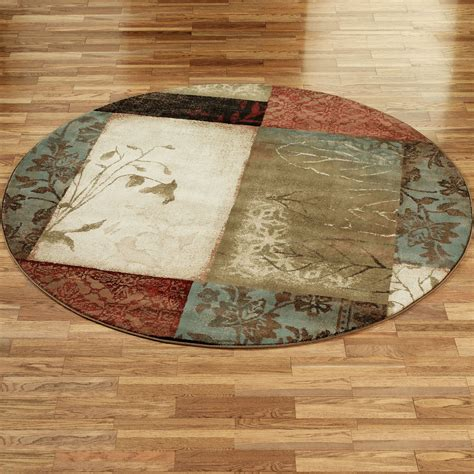 area rugs impression leaf round area rugs