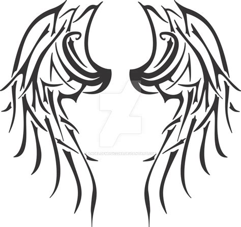 tribal wings tattoo designs tribal wings by angelofmusic2288 on deviantart