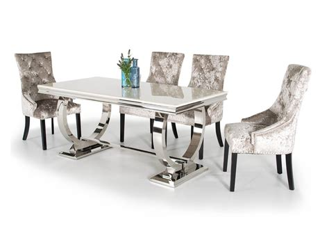 Marble Dining Chairs Arianna Marble Dining Table