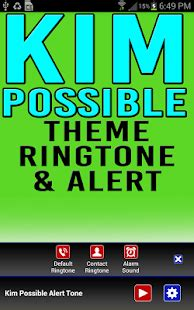 new themes and ringtone kim possible ringtone alert app report on mobile action