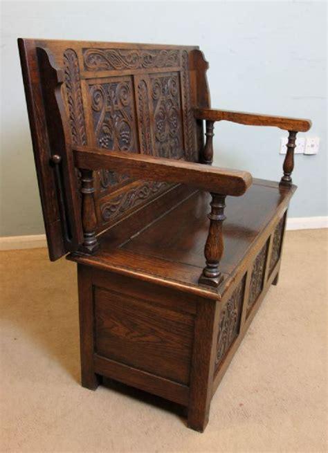 antique monks bench for sale antique oak box settle monks bench hall seat 452944