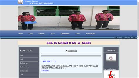 Website Portal Sekolah Penerimaan Siswa Baru 4 website sekolah dengan php gratis dunia informatika