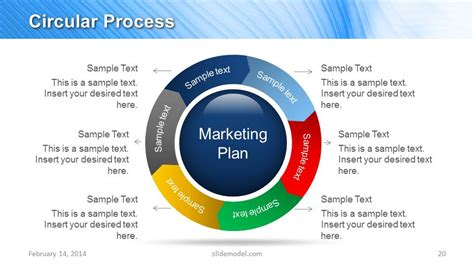 Blue Marketing Plan Template For Powerpoint Slidemodel Blue Strategy Template Ppt