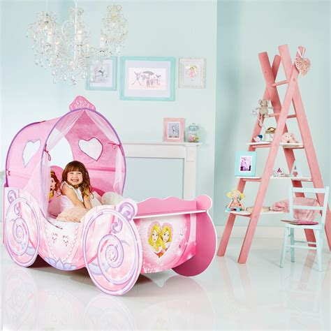 disney princess carriage toddler bed disney princess carriage kids toddler bed with led lights by hellohome amazon co uk
