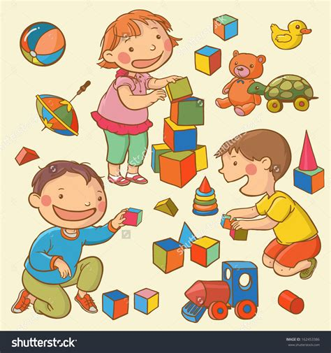 children playing  toys clipart  clipart station