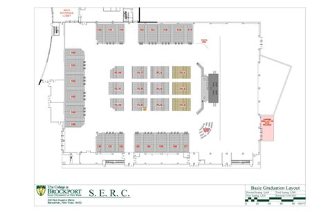 layout design for graduation serc layouts images and videos the college at brockport