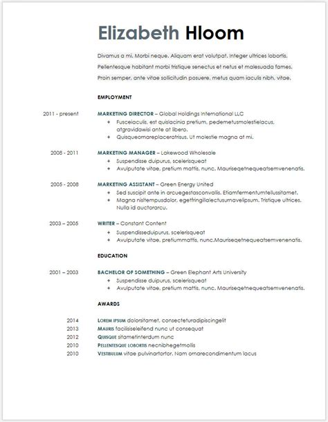 Docs Templates Resume by 12 Free Minimalist Professional Microsoft Docx And