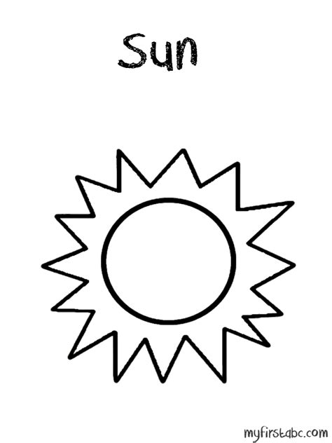 free coloring pages of cartoon sun