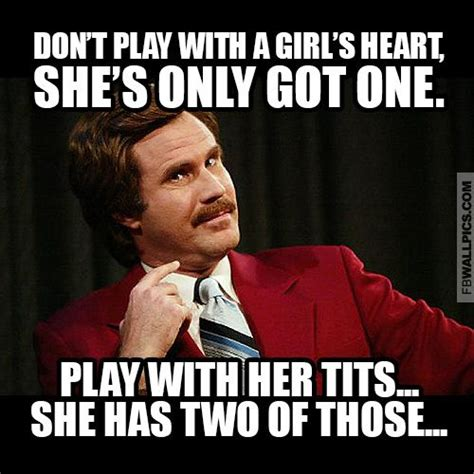 Ron Burgundy Scotch Meme - ron burgundy playing with a girl meme facebook wall pic