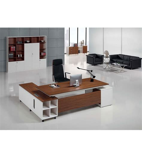 best price veneer executive desk modern office table modern walnut veneer and white small executive desk buy
