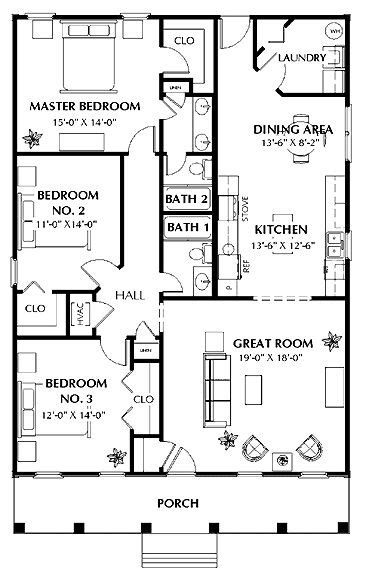 The Laurel Cottage Hwbdo15077 Tidewater House Plan Tidewater House Plans