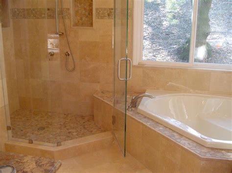 spa bath shower combo sunken tub and shower combo with seamless shower door stocker tile