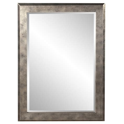 Charlize Rectangular Silver Leaf with Pewter and Black