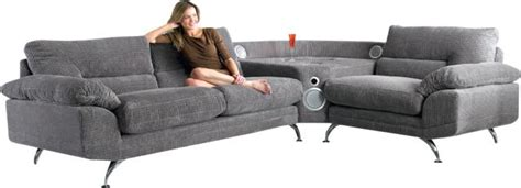 speaker couch sound sofa features a built in ios speaker dock ubergizmo