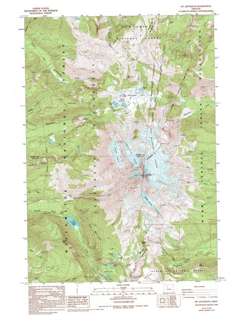 map of jefferson oregon mount jefferson topographic map or usgs topo 44121f7
