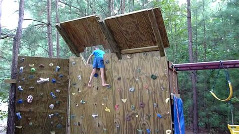 Backyard Climbing Walls by 5 Year Climber On The New Overhang For The Backyard