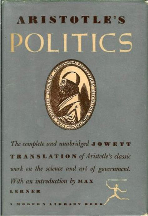 Aristotle The Politics aristotle in the modern library