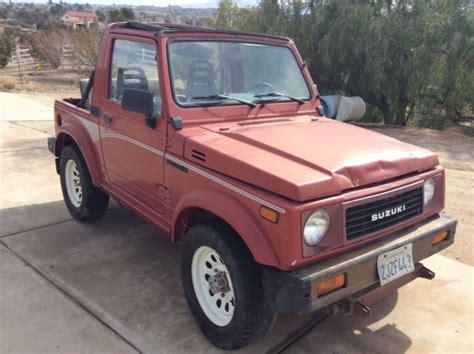 1988 Suzuki Samurai Review 1988 Suzuki Samurai 4x4 For Sale Suzuki Samurai 1988 For