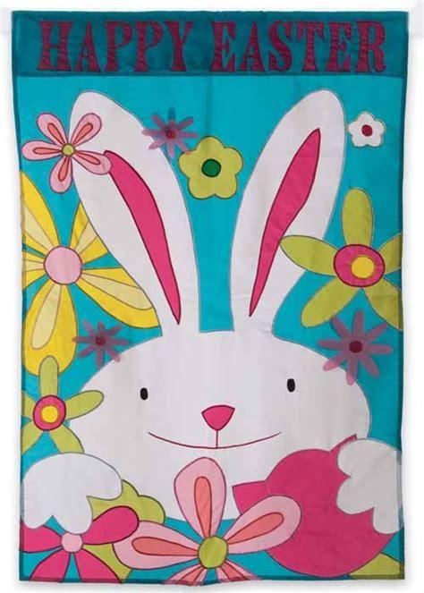happy easter bunny garden flag easter garden flags
