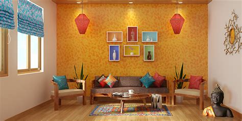 Ethnic Indian Living Room Designs by Indian Ethnic Living Room Designs Folk Lore Design