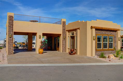 Santa Fe Style Home Plans by Superstition Views Rv Resort In Gold Canyon Az For 55