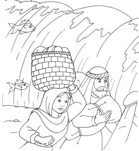 free coloring pages of moses and pharaoh
