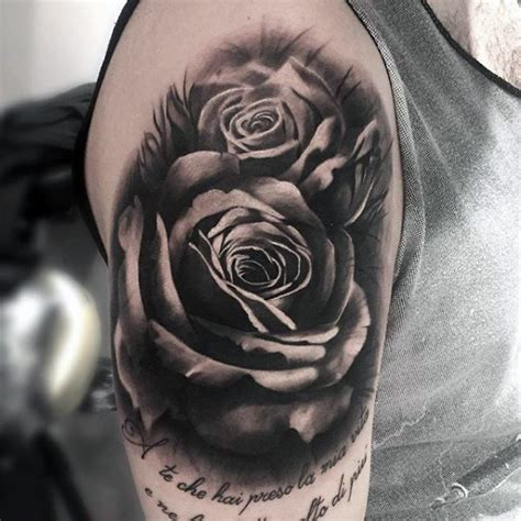 tattoo 3d rosen zarte super realistische 3d rosen tattoo oberarm tattoo