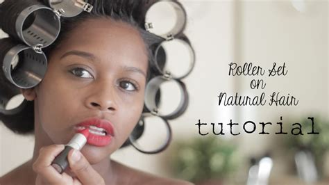 magnetic rollers on short natural hair youtube roller set on natural hair youtube