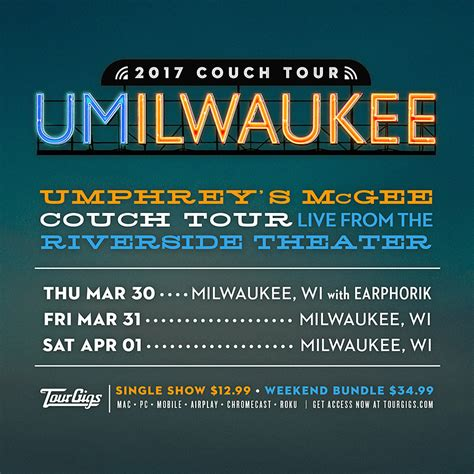 couch tour milwaukee couch tour umphrey s mcgee