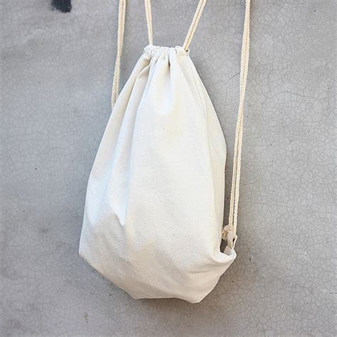 Handmade Drawstring Bags - wholesale size w34 5 x h40cm handmade blank cotton solid