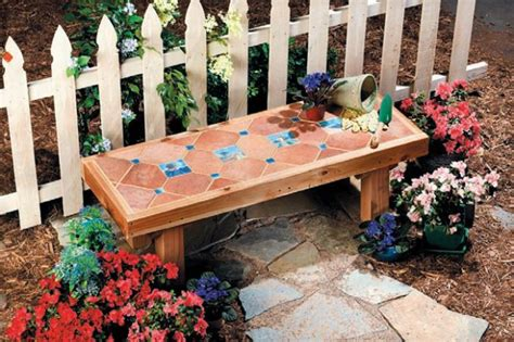 ceramic garden bench a diy ceramic tile bench garden pinterest