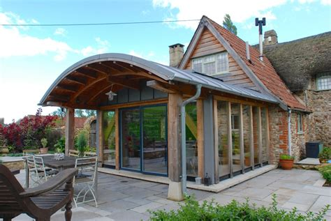 the curved house the big cottage company curved roof douglas fir extension projects services