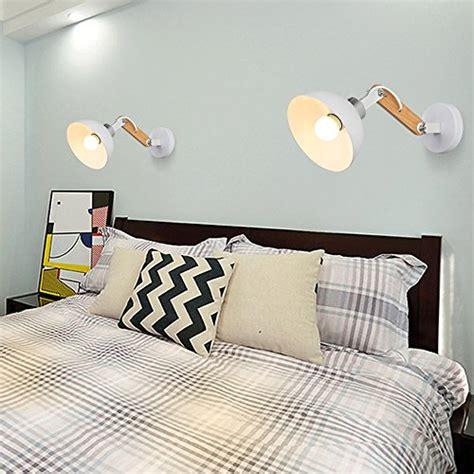 wandbeleuchtung schlafzimmer wandle splink modern holz cast e27 einstellbar