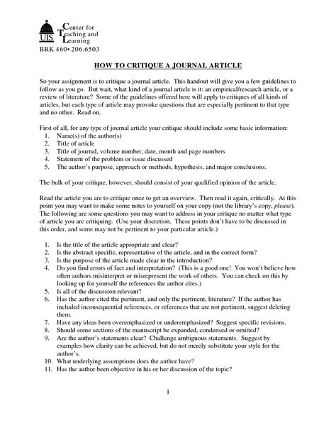 apa format journal article exle best photos of journal critique exle apa format lay out