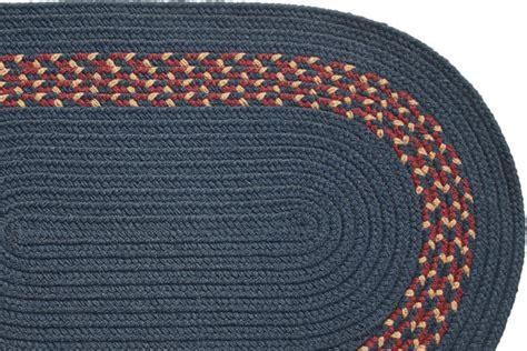 navy braided rug navy navy burgundy camel band braided rug