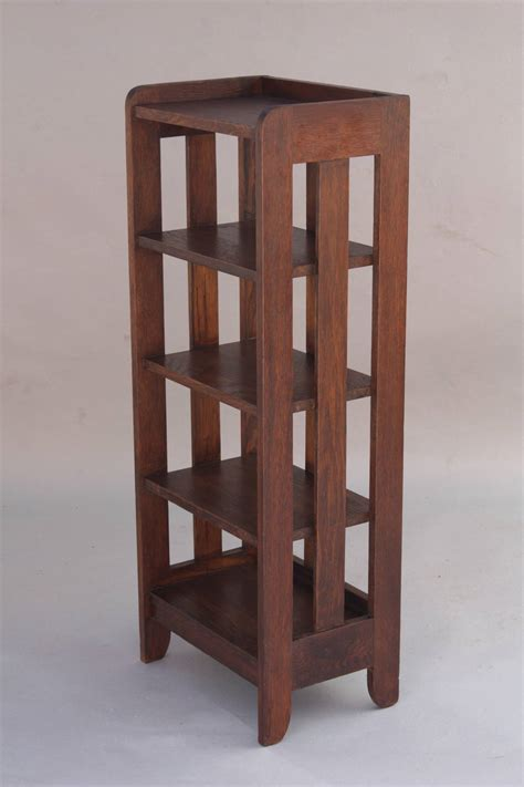 arts and crafts magazine stand or small bookcase at