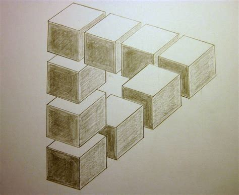 How To Make Optical Illusions On Paper - optical illusion m c escher style my drawing table