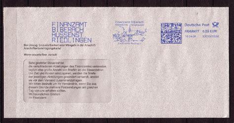 Beschriftung Brief Mit Fenster by Philaseiten De Absenderfreistempel Mit Motiven
