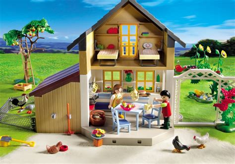 playmobil house playmobil country farm house with market 5120 playzone be lego mega bloks