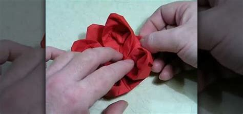 Origami Napkin Flower - how to make an origami lotus flower from a napkin 171 origami