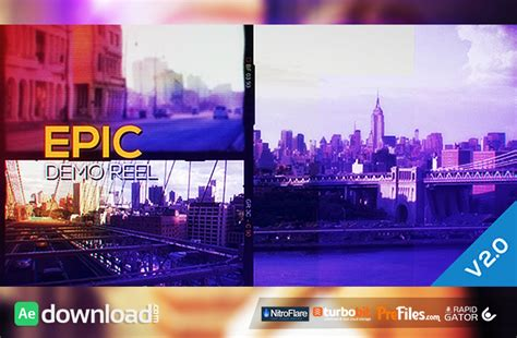 showreel template after effects free download epic demo reel videohive projects free download free