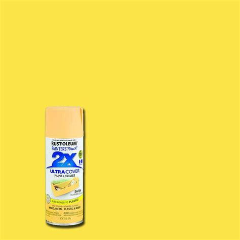 rust oleum painter s touch 2x 12 oz satin summer squash general purpose spray paint of 6